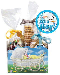 BABY BOY  BASKET BOX OF GOURMET TREATS