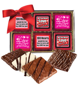 "VALENTINES DAY ""COOKIE TALK"" CHOCOLATE GRAHAM 12 Pc. GIFT BOX"