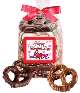 Valentines Day Gourmet Pretzel Bag - 8 Pc