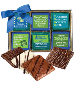 EMPLOYEE APPRECIATION - 12 Pc Chocolate Graham  Gift Box
