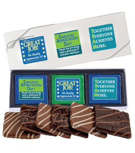 EMPLOYEE APPRECIATION  6 Pc CHOCOLATE GRAHAM GIFT BOX