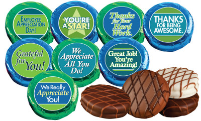employee appreciation cookie talk chocolate oreos w messages