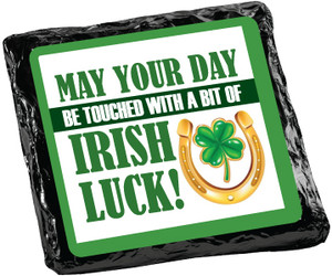 ST PATRICKS DAY  -  CHOCOLATE GRAHAMS - FOIL-WRAPPED  WITH MESSAGES/ GRAPHICS