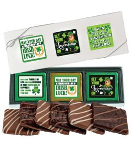 ST PATRICKS DAY  6 Pc CHOCOLATE GRAHAM GIFT BOX