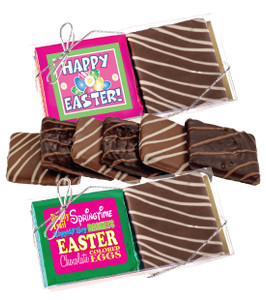 """EASTER/ SPRING """"COOKIE TALK"""" CHOCOLATE GRAHAM DUO"""