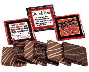 """ADMIN/ OFFICE STAFF -  """"COOKIE TALK"""" CHOCOLATE GRAHAMS  WITH MESSAGES"""