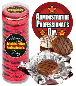 "ADMIN/ OFFICE STAFF  -""COOKIE TALK"" CHOCOLATE OREOS - 9 Pc. CYLINDER"