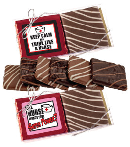"NURSE APPRECIATION ""COOKIE TALK"" CHOCOLATE GRAHAM DUO"