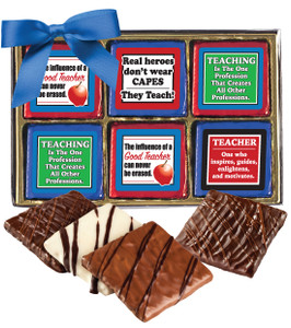 TEACHER APPRECIATION 'COOKIE TALK' CHOCOLATE GRAHAM 12 Pc. GIFT BOX