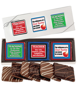 TEACHER APPRECIATION 'COOKIE TALK'  CHOCOLATE GRAHAM  6 Pc GIFT BOX