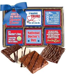 "DOCTOR APPRECIATION ""COOKIE TALK"" CHOCOLATE GRAHAM 12 Pc. GIFT BOX"