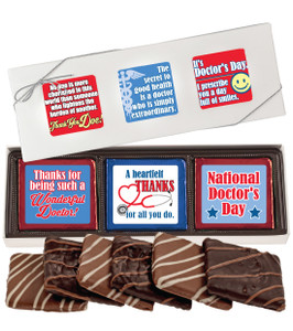 "DOCTOR APPRECIATION ""COOKIE TALK""  6 Pc CHOCOLATE GRAHAM GIFT BOX"