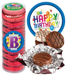 "BIRTHDAY - ""COOKIE TALK"" CHOCOLATE OREOS - 9 Pc.CYLINDER"
