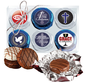 "COMMUNION/ CONFIRMATION  - ""COOKIE TALK"" CHOCOLATE OREO 6 Pc GIFT BOX"