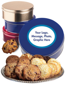 GRADUATION CUSTOM COOKIE TIN - Your Assortment - Your  Logo, Photo or Message