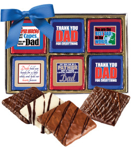 "FATHERS DAY ""COOKIE TALK"" CHOCOLATE GRAHAM 12 Pc.GIFT BOX"