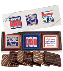 "FATHERS DAY ""COOKIE TALK"" CHOCOLATE GRAHAM  6 Pc GIFT BOX"