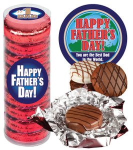 """FATHERS DAY  """"COOKIE TALK"""" CHOCOLATE OREOS - 9 Pc.CYLINDER"""