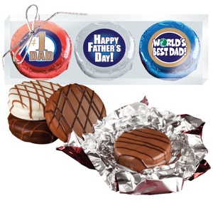 "FATHERS DAY  ""COOKIE TALK"" CHOCOLATE OREO TRIO - Foil-wrapped w/ Messages"