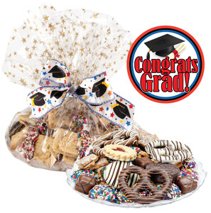 GRADUATION COOKIE ASSORTMENT SUPREME - Cookies, Pretzel & Candy