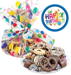 BIRTHDAY COOKIE ASSORTMENT SUPREME: Cookies, Pretzel & Candy