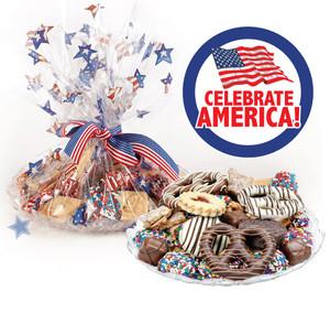 CELEBRATE AMERICA  COOKIE ASSORTMENT SUPREME - Cookies, Pretzel & Candy