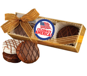 CELEBRATE AMERICA CHOCOLATE DRIZZLED OREO TRIO