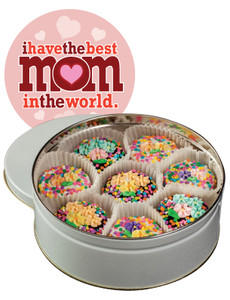 MOTHERS DAY SPRING BOUQUET DECORATED CHOCOLATE OREO TIN