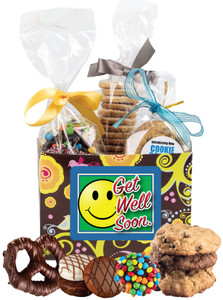 GET WELL BASKET BOX OF GOURMET TREATS