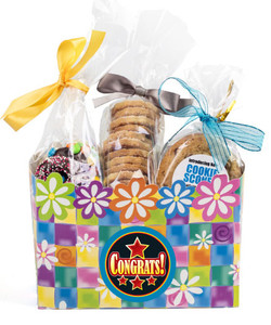CONGRATULATIONS GIFT BASKET BOX OF GOURMET TREATS