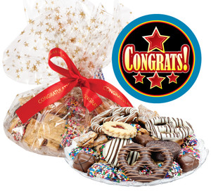 CONGRATULATIONS COOKIE ASSORTMENT SUPREME - Cookies, Pretzel & Candy