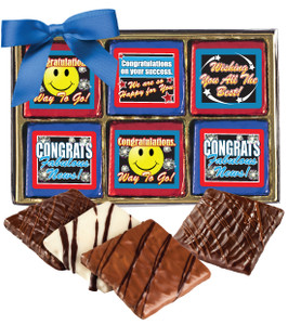 "CONGRATULATIONS ""COOKIE TALK""-  12 Pc CHOCOLATE GRAHAM GIFT BOX"
