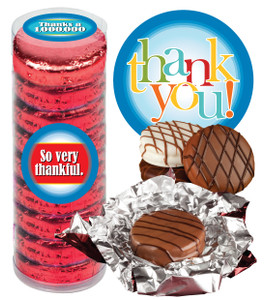"THANK YOU ""COOKIE TALK"" CHOCOLATE OREOS - 9 Pc.Cylinder"