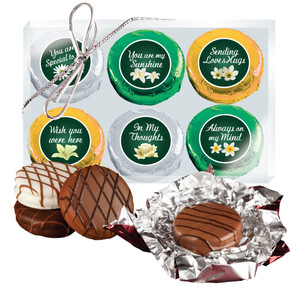 "THINKING OF YOU ""COOKIE TALK"" CHOCOLATE OREO 6 Pc GIFT BOX"