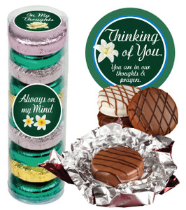 "THINKING OF YOU ""COOKIE TALK"" CHOCOLATE OREOS - 9 Pc.Cylinder"