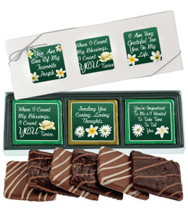 "THINKING OF YOU ""COOKIE TALK""-  6 Pc CHOCOLATE GRAHAM GIFT BOX"