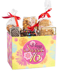 SWEET 16  GIFT BASKET BOX OF  TREATS