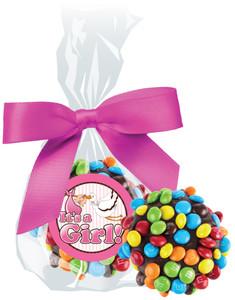ITS A GIRL! CHOCOLATE  OREOS W/ MINI M&Ms