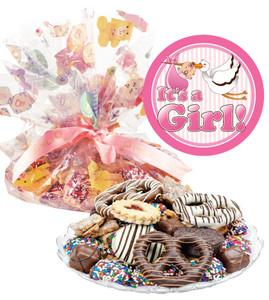 BABY GIRL COOKIE ASSORTMENT SUPREME - Cookies, Pretzel & Candy