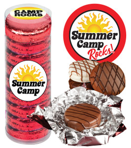 "SUMMER CAMP ""COOKIE TALK"" CHOCOLATE OREOS  9 PC.CYLINDER"