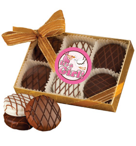 BABY GIRL CHOCOLATE DRIZZLED OREO 6 Pk