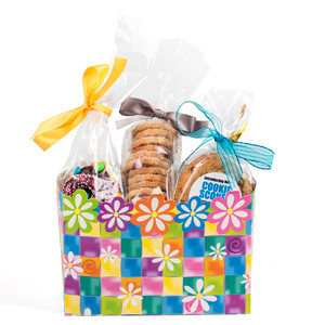 EASTER/ SPRING GIFT BASKET BOX OF GOURMET TREATS