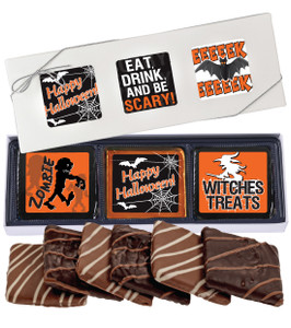 "HALLOWEEN ""COOKIE TALK"" CHOCOLATE GRAHAM 6 PC GIFT BOX"
