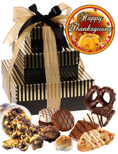 THANKSGIVING  TIERED TOWER OF TREATS