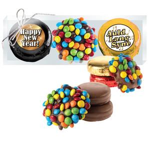 HAPPY NEW YEAR  M&M CHOCOLATE OREO TRIO