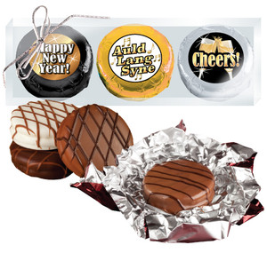 """HAPPY NEW YEAR """"COOKIE TALK"""" CHOCOLATE OREO TRIO  w/ MESSAGES"""