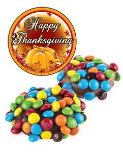 THANKSGIVING CHOCOLATE OREOS w/ MINI M&Ms
