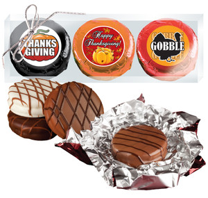 """THANKSGIVING """"COOKIE TALK"""" CHOCOLATE OREO TRIO  w/ MESSAGES"""