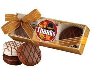 THANKSGIVING CHOCOLATE DRIZZLED OREO TRIO