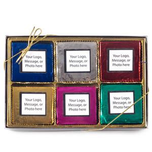 CHRISTMAS/ HOLIDAY CUSTOM CHOCOLATE GRAHAM  12 PC GIFT BOX